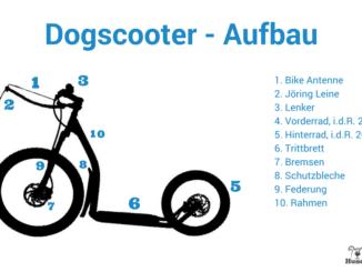 Infografik zum technischen Aufbau eines Dogscooter